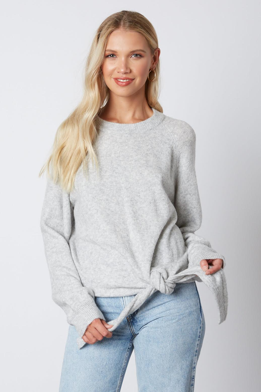 cozy side tie sweater