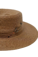 Load image into Gallery viewer, olive & pique fine weave raffia boater hat