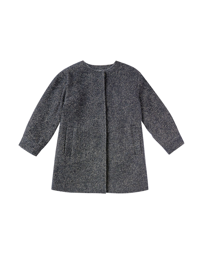 rylee + cru no-collar coat