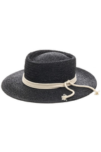 Load image into Gallery viewer, flight lux staw bolero hat with rope trim