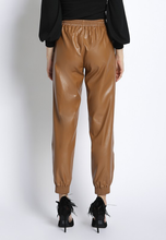 Load image into Gallery viewer, faux leather joggers