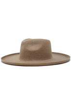 Load image into Gallery viewer, olive & pique lenny wool felt panama hat with upturned edge