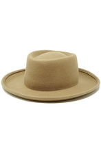 Load image into Gallery viewer, flight lux wool felt pork pie hat pecan