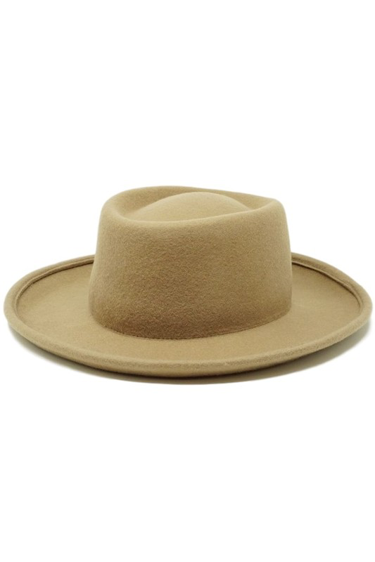 flight lux wool felt pork pie hat pecan