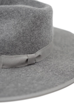 Load image into Gallery viewer, olive & pique flat bring wool fedora with piping brim detail