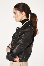 Load image into Gallery viewer, rocket faux leathr moto jacket