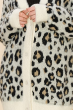 Load image into Gallery viewer, fuzzy leopard cardigan