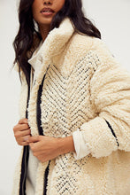 Load image into Gallery viewer, free people avery embroidered teddy jacket