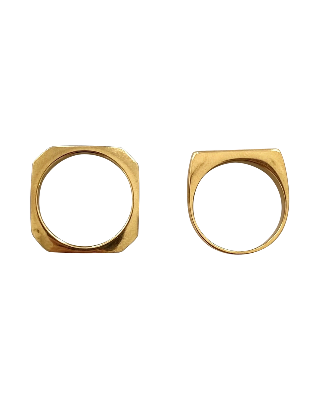 Hendrix Ring Stack - Set of 2 Gold