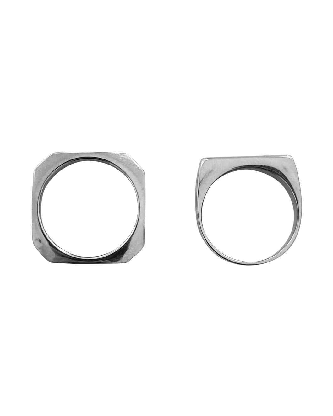 Hendrix Ring Stack - Set of 2 Silver