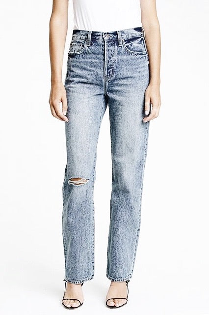 pistola cassie super high rise straight leg jeans