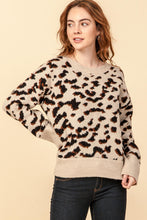 Load image into Gallery viewer, leopard print pullover sweater