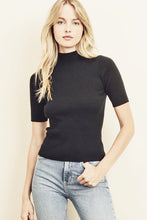 Load image into Gallery viewer, ribbed knit mock neck top
