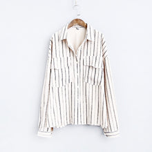 Load image into Gallery viewer, retro corduroy shirt boyfriend-fit long-sleeved jacket
