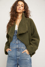 Load image into Gallery viewer, free people izzy wrap teddy jacket