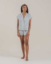 Load image into Gallery viewer, rylee + cru blue floral bedtime pj set