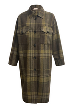 Load image into Gallery viewer, renamed long plaid jacket