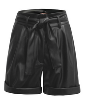 Load image into Gallery viewer, renamed cuffed faux leather shorts