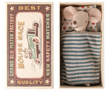 Load image into Gallery viewer, maileg big brother mouse in matchbox bed