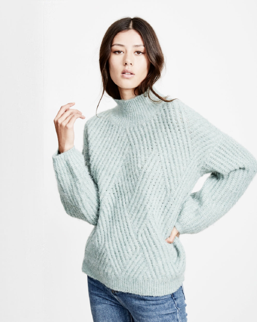 little lies high neck sweater