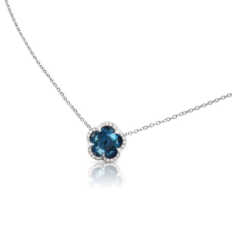 Pasquale Bruni Je T'aime Necklace with London Blue Topaz and Diamonds