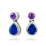 Purple Sapphire & Tanzanite Drop Earrings