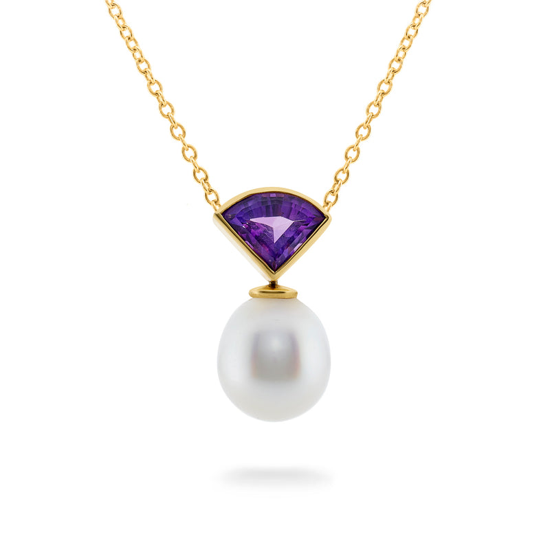 Amethyst & South Sea Pearl Pendant