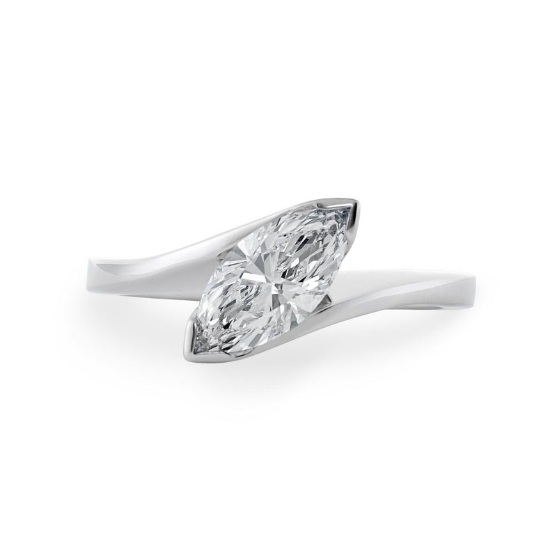 Dracakis 18ct White Gold Marquise Cut Diamond Engagement Ring
