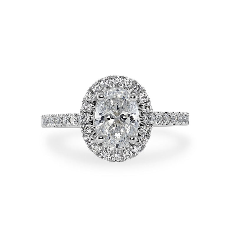 Dracakis 18ct White Gold Oval Cut Diamond Engagement Ring
