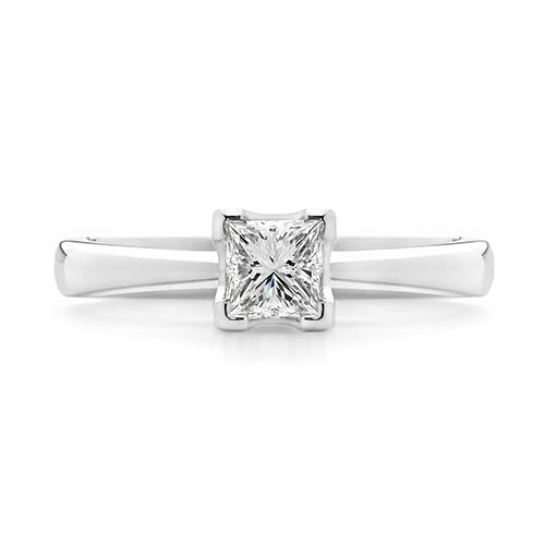 Dracakis 18ct White Gold Princess Cut Diamond Solitaire Engagement Ring