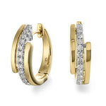 Dracakis 18ct White & Yellow Gold Diamond Hoop Earrings