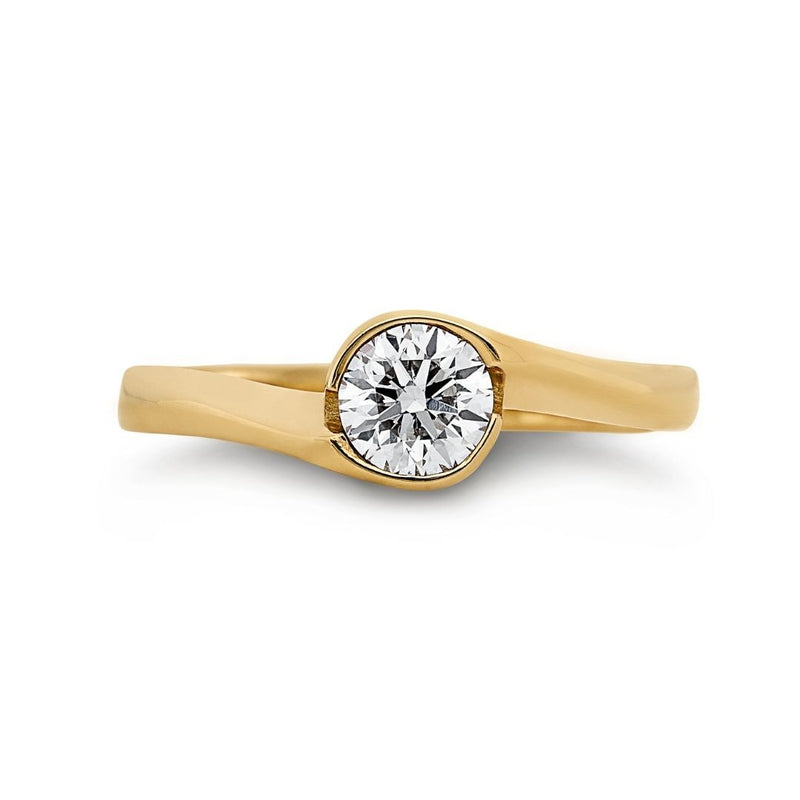 Dracakis 18ct Yellow Gold Round Brilliant Cut Diamond Engagement Ring