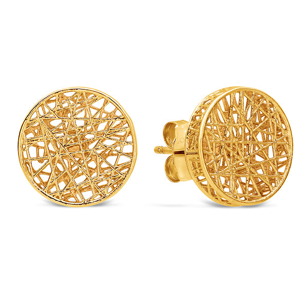 Dracakis 9ct Yellow Gold Large Stud Earrings
