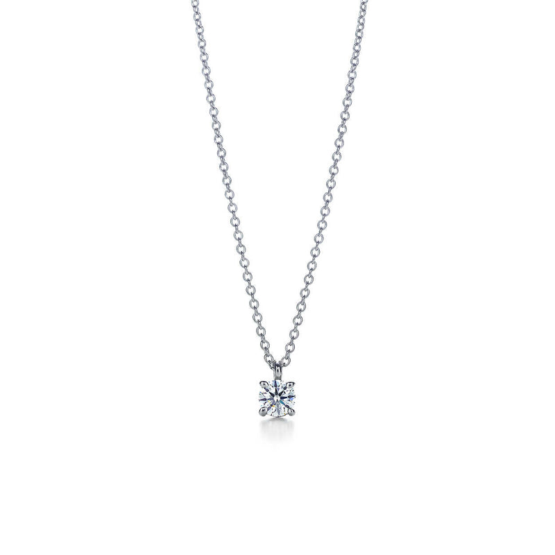 Round Brilliant Cut Diamond Solitaire Pendant