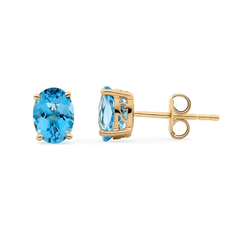 Coloured Gemstone Stud Earrings