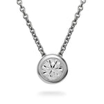 Dracakis 18ct White Gold Round Brilliant Cut Diamond Pendant