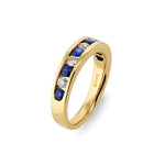 Blue Sapphire & Diamond Dress Ring