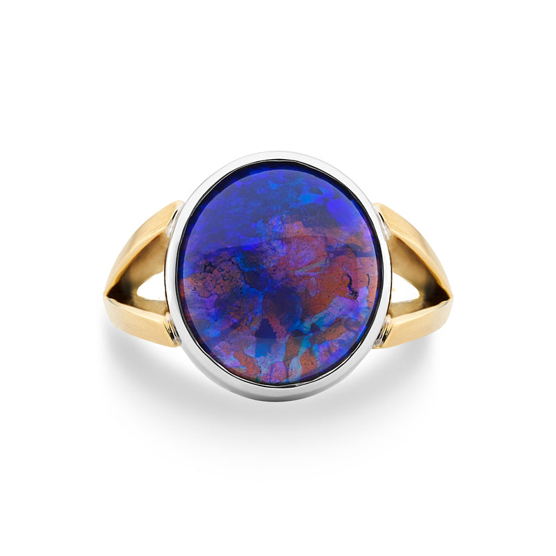 Black Opal Dress Ring