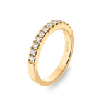 Dracakis 18ct Yellow Gold Round Brilliant Cut Diamond Band