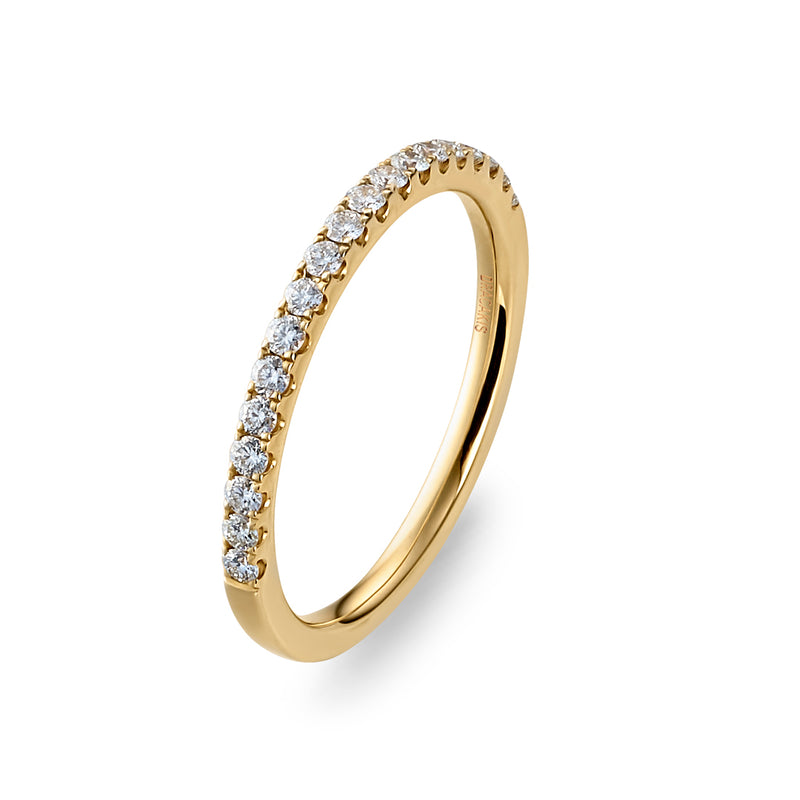Dracakis 18ct Yellow Gold Round Brilliant Cut Diamond Wedding Ring