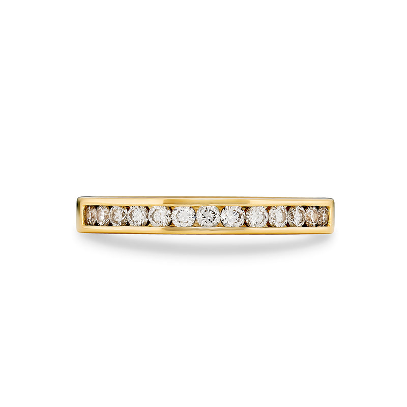 Round Brilliant Cut Diamond Channel Set Ring
