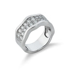 Dracakis 18ct White Gold Round Brilliant Cut Diamond Dress Ring