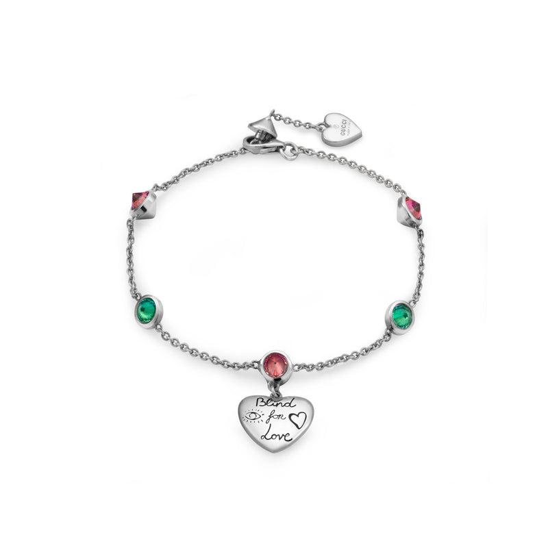 Gucci Blind For Love Bracelet with Pink & Green Zirconia