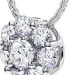 Hearfts On Fire Beloved Diamond Pendant in White Gold