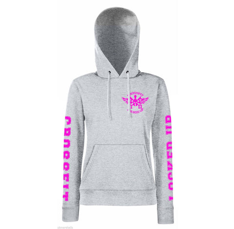 CrossFit Locked Up Hoodie Style 2 PINK