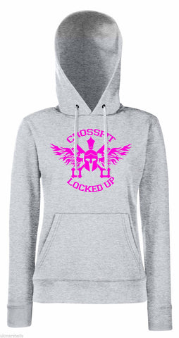 CrossFit Locked Up Hoodie Style 1 PINK