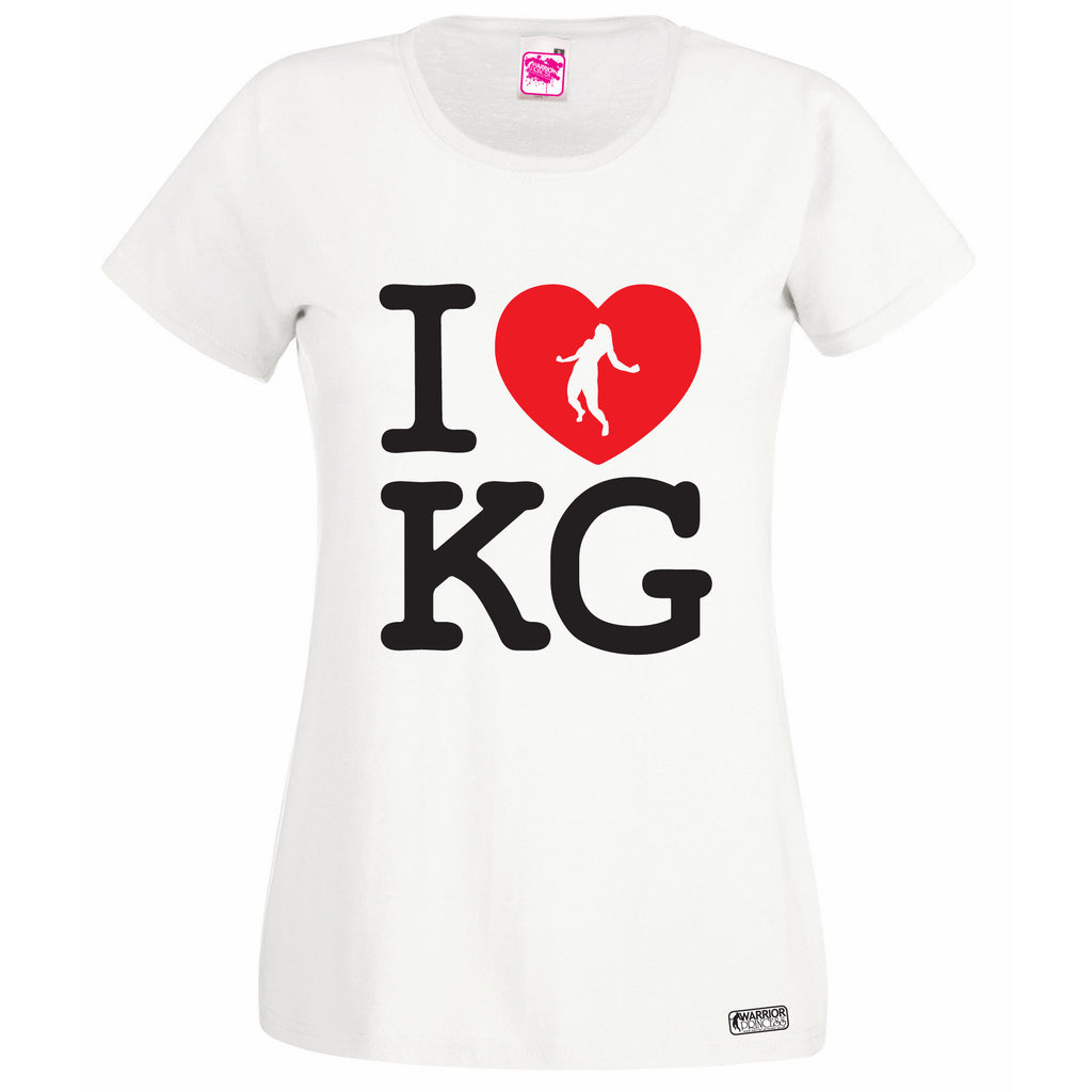 I ❤ KG White Lady Fit T Shirt