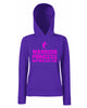 Warrior Princess Stencil Lady Fit Hoodie (Hooded Sweatshirt)