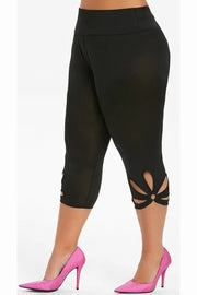 AFC Flower PS Leggings Black - All Fitness Company