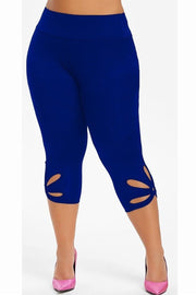 AFC Flower PS Leggings Blue - All Fitness Company